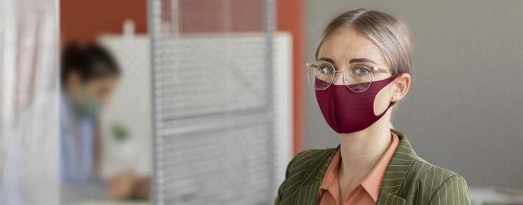 riesgo de contagio en oficina
